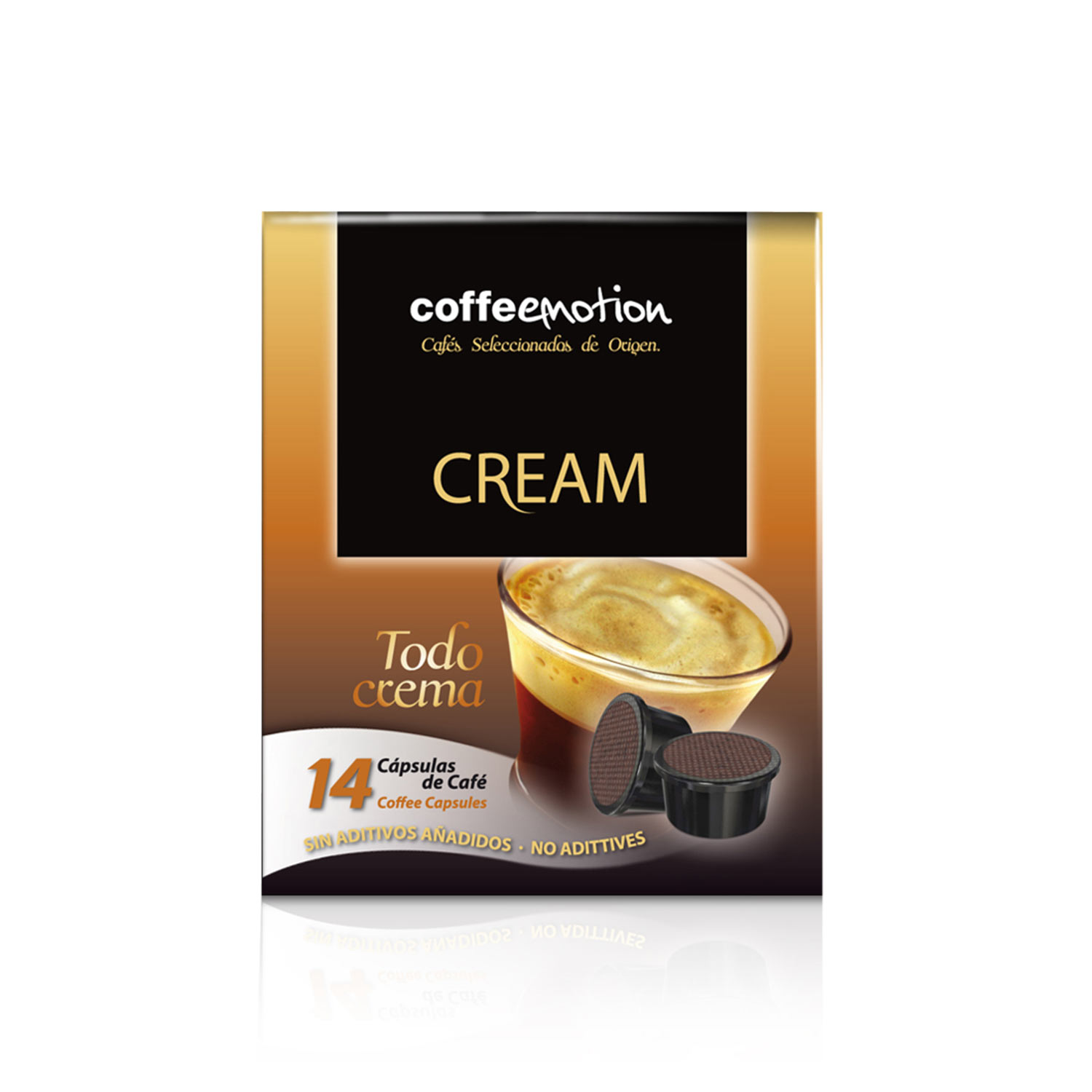 Cápsulas de café Coffeemotion Cream (14u)
